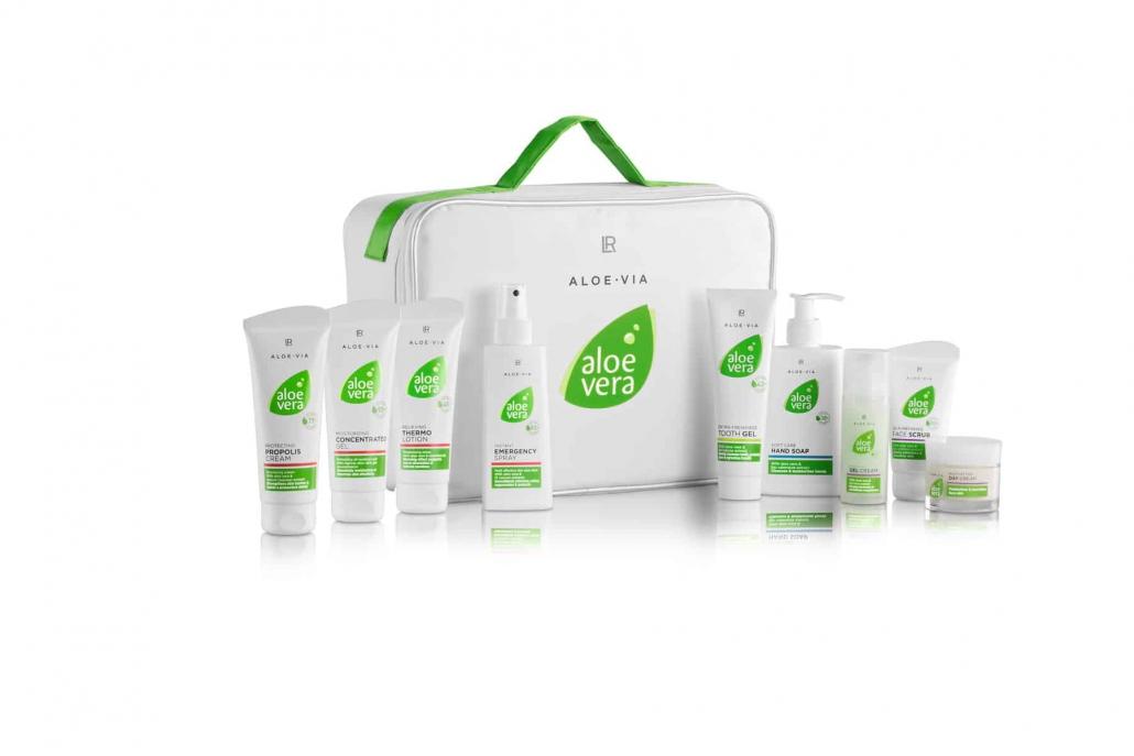 koffer mit aloe vera produkten